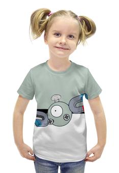 """Футболка с полной запечаткой для девочек """"Покемон Магнемайт"""" - pokemon, покемон, магнемайт, magnemite"""
