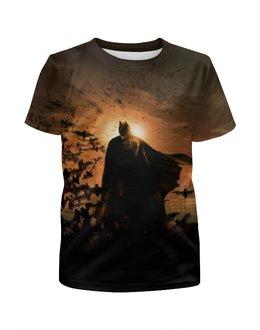 """Футболка с полной запечаткой для девочек """"Бэтмен """" - batman, супергерои, темный рыцарь, dark knight"""