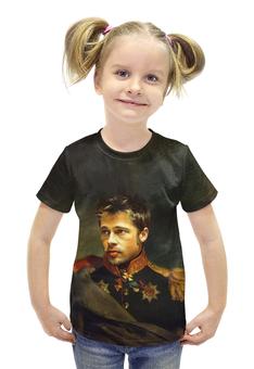 """Футболка с полной запечаткой для девочек """"Brad Pitt"""" - бред питт, актёр"""