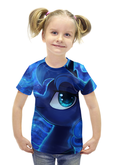 """Футболка с полной запечаткой для девочек """"Night Princess"""" - my little pony, luna, принцесса луна, princessluna, луна пони"""