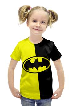 """Футболка с полной запечаткой для девочек """"Batman (Бэтмен)"""" - batman, бэтмен, супергерой, летучая мышь, брюс уэйн"""