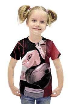 """Футболка с полной запечаткой для девочек """"Blood sport"""" - арт, авторские майки, рисунок"""