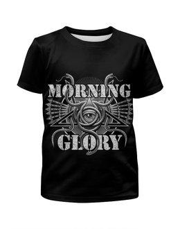 """Футболка с полной запечаткой для девочек """"Morning Glory """" - глаз"""