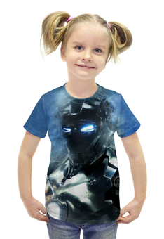 """Футболка с полной запечаткой для девочек """"Железный Человек (Iron Man)"""" - железный человек, iron man"""
