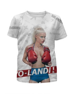 "Футболка с полной запечаткой для девочек ""Die Antwoord"" - die antwoord, yo-landi, zef, йоланди, yolandi"