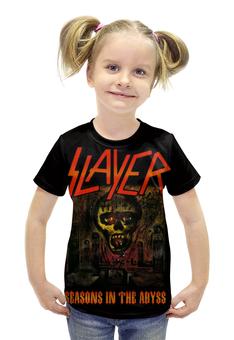 "Футболка с полной запечаткой для девочек ""Slayer Season In The Abyss 1990"" - музыка, рок, металл, slayer, thrash metal"