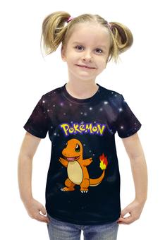 """Футболка с полной запечаткой для девочек """"PoKeMon Charmander"""" - ящерица, огненный, покемоны, чармандер, charmander"""