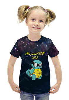 """Футболка с полной запечаткой для девочек """"PoKeMon Squirtle"""" - pokemon, черепаха, покемоны, сквиртл, squirtle"""