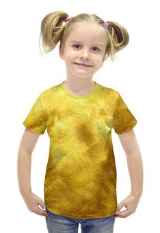 """Футболка с полной запечаткой для девочек """"Золотая"""" - золото, gold"""