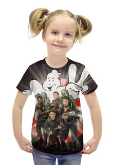 """Футболка с полной запечаткой для девочек """"Охотники за привидениями / Ghostbusters"""" - рисунок, кино, охотники за привидениями"""