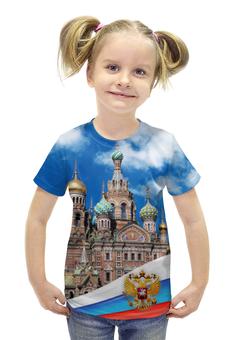 """Футболка с полной запечаткой для девочек """"Санкт-Петербург"""" - питер, россия, санкт-петербург"""