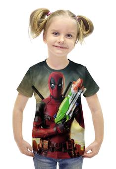 """Футболка с полной запечаткой для девочек """"Deadpool"""" - супергерой, marvel, марвел, убийца, дэдпул"""