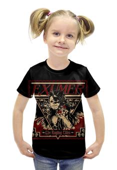 """Футболка с полной запечаткой для девочек """"Exumer (thrash metal band)"""" - рок группа, тяжёлый рок, thrash metal, треш метал, exumer"""