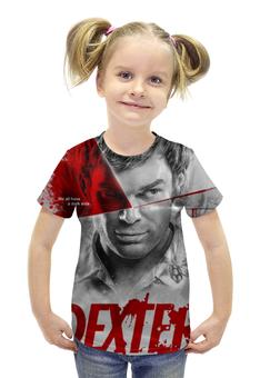 """Футболка с полной запечаткой для девочек """"Декстер / Dexter"""" - декстер, сериалы, рисунок, кино"""