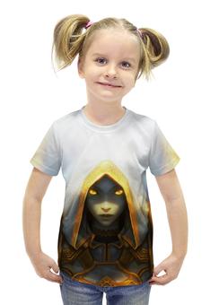 """Футболка с полной запечаткой для девочек """"Priest (World of Warcraft)"""" - wow, world of warcraft, priest, жрец"""