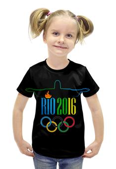 """Футболка с полной запечаткой для девочек """"Рио 2016"""" - спорт, олимпиада, рио, бразилия, 2016"""