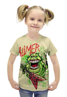 """Футболка с полной запечаткой для девочек """"Лизун/Slayer"""" - юмор, slayer, охотники на привидений, thrash metal, ghost busters"""