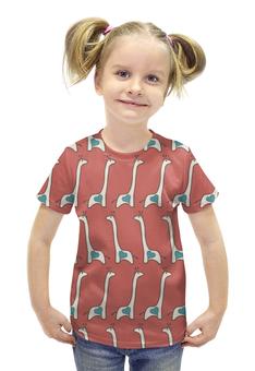 """Футболка с полной запечаткой для девочек """"Жирафы"""" - сердце, авторские майки, жираф"""