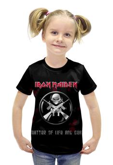 """Футболка с полной запечаткой для девочек """"Iron Maiden Band"""" - heavy metal, рок группа, iron maiden, хеви метал, eddy"""