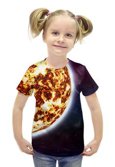 """Футболка с полной запечаткой для девочек """"Наш Мир"""" - космос, наука, прогресс, денис гесс, the spaceway"""