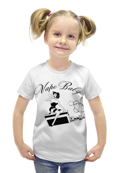 """Футболка с полной запечаткой для девочек """"vape baby"""" - girl, графика, vape, vapor, vapelove"""