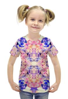 """Футболка с полной запечаткой для девочек """"Аврора"""" - оранжевый, фиолетовый, розовый, синий"""
