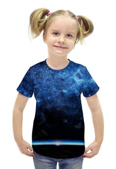 """Футболка с полной запечаткой для девочек """"Космос 3D"""" - space, космос, 3d"""