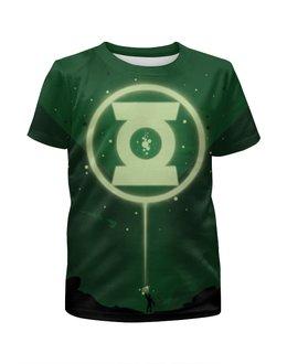 """Футболка с полной запечаткой для девочек """"Green Lantern/Зеленый Фонарь """" - арт, green, green lantern, dc comics, red lantern corps"""