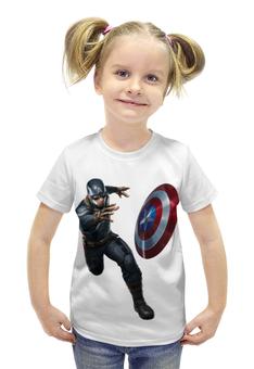 """Футболка с полной запечаткой для девочек """"Captain America: Civil War"""" - капитан америка, captain america, первый мститель, противостояние, civil war"""