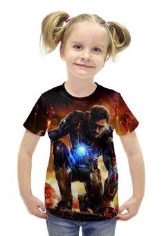 """Футболка с полной запечаткой для девочек """"Iron Man"""" - комиксы, герой, мстители, железный человек, тони старк"""