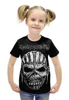 """Футболка с полной запечаткой для девочек """"IRON MAIDEN"""" - рок, rock, металл, iron maiden, айрон мейден"""