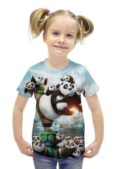 """Футболка с полной запечаткой для девочек """"Кунг-Фу Панда"""" - панда, panda"""