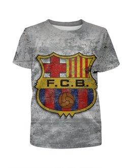 """Футболка с полной запечаткой для девочек """"Барселона (Барса)"""" - барселона, fcb, барса"""