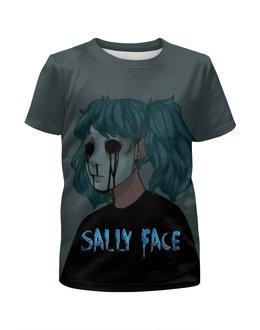 """Футболка с полной запечаткой для девочек """"Sally Face (Салли Фейс)"""" - игра, компьютерная игра, sally face, салли фейс, сали фейс"""