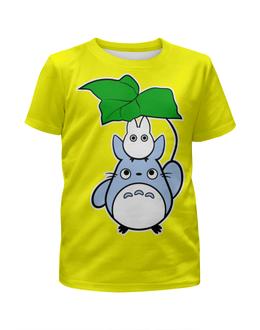 """Футболка с полной запечаткой для девочек """"Мой сосед Тоторо (My Neighbor Totoro)"""" - аниме, тоторо, totoro, мой сосед тоторо, my neighbor totoro"""