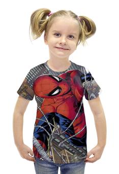"""Футболка с полной запечаткой для девочек """"Человек-паук (Spider-man)"""" - spider man, spider-man, марвел, человек-паук"""