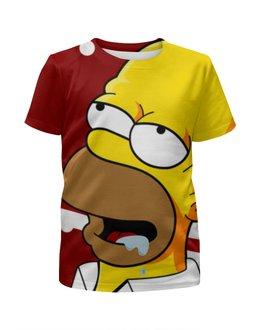 """Футболка с полной запечаткой для девочек """"Симпсоны , The Simpsons , мультики"""" - мультики, симпсоны, the simpsons"""
