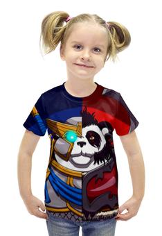 """Футболка с полной запечаткой для девочек """"Пандарен (Варкрафт)"""" - панда, panda, wow, warcraft"""
