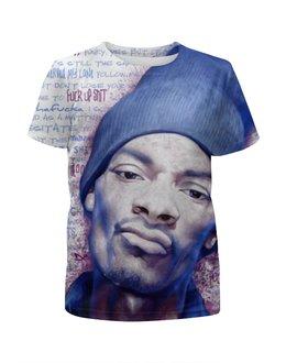 """Футболка с полной запечаткой для девочек """"Snoop Dogg"""" - музыка, рэп, снуп дог"""