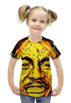 """Футболка с полной запечаткой для девочек """"Bob Marley (Боб Марли)"""" - регги, боб марли, bob marley"""