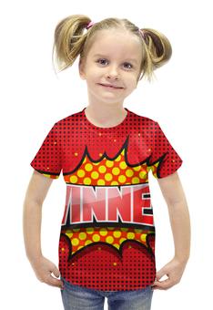 """Футболка с полной запечаткой для девочек """"WINNER"""" - арт, комикс, дизайн, графика, иллюстрация"""