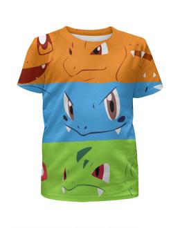 """Футболка с полной запечаткой для девочек """"Покемон (Pokemon)"""" - pokemon, pokemons, покемон, покемоны"""