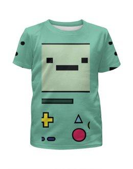 """Футболка с полной запечаткой для девочек """"Adventure Time BMO"""" - adventure time, время приключений, jake, bmo, бимо"""