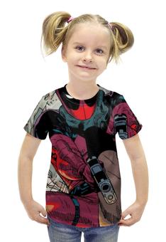 """Футболка с полной запечаткой для девочек """"Deadpool"""" - deadpool, wade wilson"""