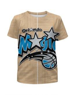 """Футболка с полной запечаткой для девочек """"Орландо Мэджик (Orlando Magic)"""" - nba, нба, орландо мэджик, orlando magic"""