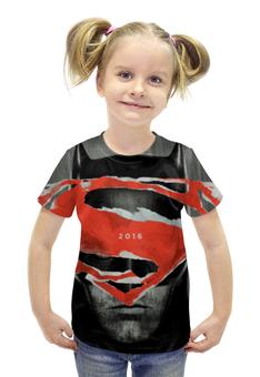 """Футболка с полной запечаткой для девочек """"Batman"""" - супермен, batman, бэтмен, на заре справедливости"""