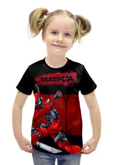 """Футболка с полной запечаткой для девочек """"Dead Pool"""" - комиксы, марвел, дэдпул, dead pool"""