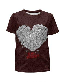 """Футболка с полной запечаткой для девочек """"Valentine's day"""" - любовь, 14 февраля, valentine's day, день влюбленных"""