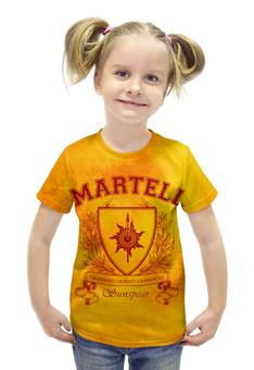 """Футболка с полной запечаткой для девочек """"Игра Престолов. Дом Мартеллов"""" - игра престолов, game of thrones, дом мартеллов, house martell, мартеллы"""