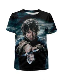 "Футболка с полной запечаткой для девочек ""Hobbit"" - властелин колец, хоббит, lord of the rings, фродо, бильбо"